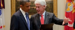 President Obama and Bill Clinton / Wikimedia Commons
