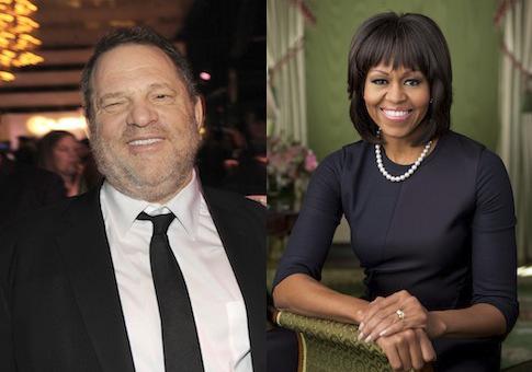 Harvey Weinstein, Michelle Obama / AP