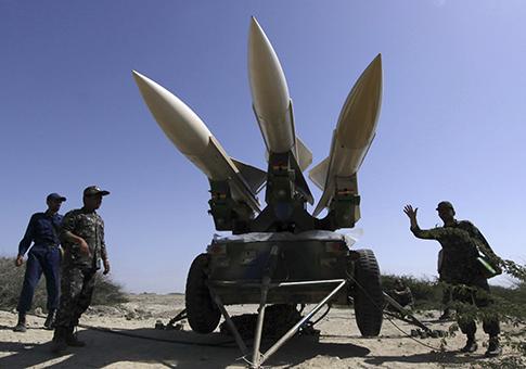 Iranian rockets / AP
