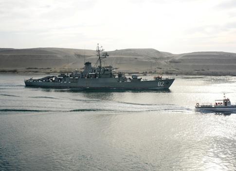 An Iranian warship / AP