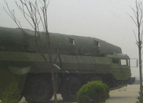 Chinese Internet photos first published Feb. 29, 2012 show China's new DF-26c intermediate-range ballistic missile.