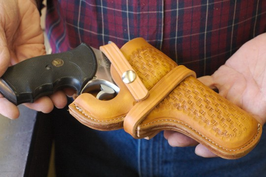 Revolver in a holster / AP