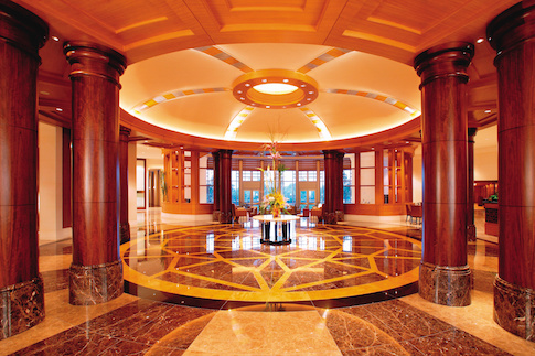 Lobby of the Mandarin Oriental Hotel in Washington, D.C., where Democracy Alliance members are meeting this week