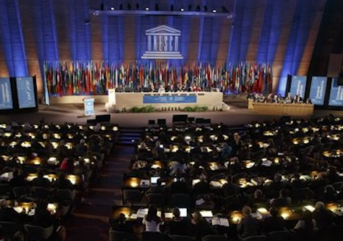 'UNESCO general conference in 2015 / AP' from the web at 'http://s4.freebeacon.com/up/2015/11/UNESCO-general-conference-in-2015.jpg'