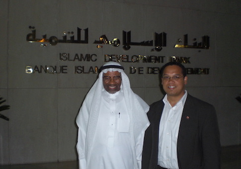 Keith Ellison with Dr. Ahmad Mohamed Ali at the Islamic Development Bank