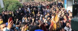 Iranian students protest at the University of Tehran during a demonstration driven by anger over economic problems