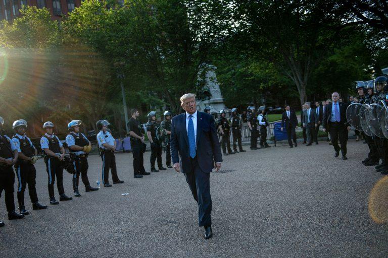 Trump Lafayette park
